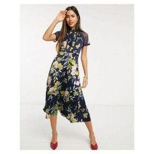 Liquorish Womens A Line Lace Midi Dress 6 NWT
